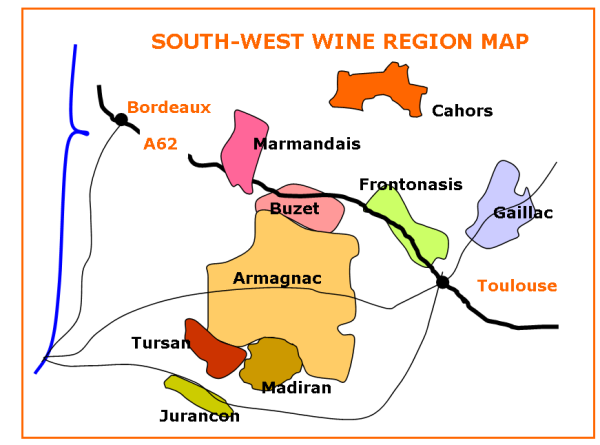 Armagnac Region Tour Map