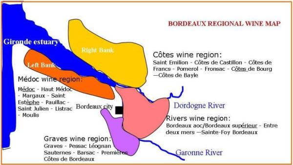 Bordeaux region chart
