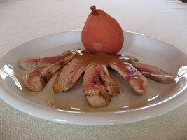 (Duck breasts with Pears)