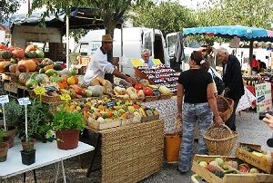 The Farmers market in Coustellet in Provence