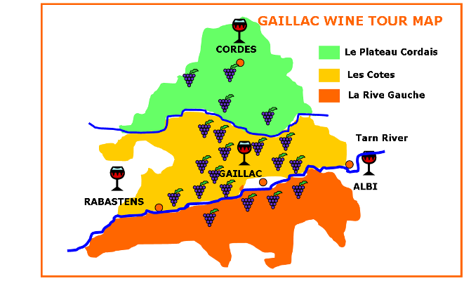 gaillac region tour map