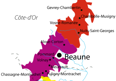 Grands cru tour map - Wine Tour France